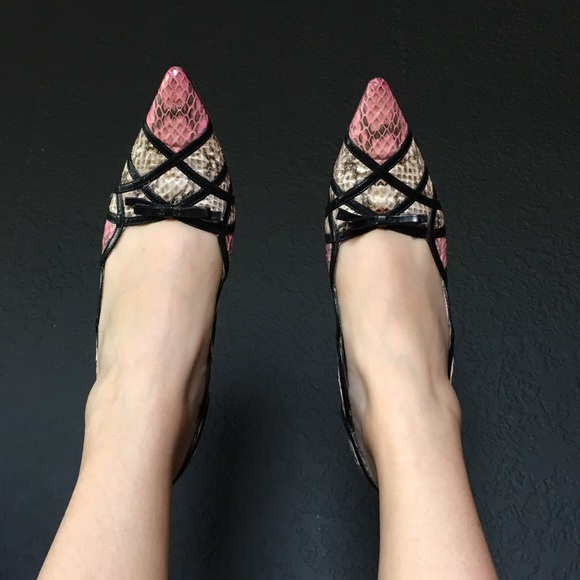 9b64a411fe29 Authentic Vero Snake Skin Heels made in Italy. M 5a87d05bc9fcdf5243f3004e